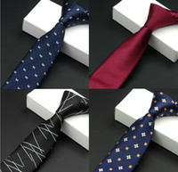 Wholesale Waterproof leisure business tie tie small Suihua dot thin jacquard tie narrow necktie Mens Suit tieA0112