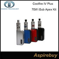 apex red - 100 Original Innokin Coolfire IV Plus W iSub Apex Starter Kit W Cool Fire IV Plus Battery with ML iSub APEX Sub Ohm Tank iSub A Kit