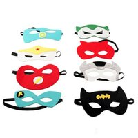 Wholesale 100pcs super hero mask kids eyemask cosplay superman mask batman cosplay mask cosplay mask captain america spiderman mask kids Satin mask