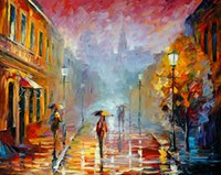 Wholesale Hot Sell Modern Wall Painting Home Decorative Art Picture Paint Canvas Prints Color painting Street lamp Fireworks Castle