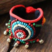 Cheap Yunnan characteristic fashion jewelry bracelet national wind bracelet hand-woven cloth art beads bracelet jewelry