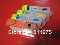 Wholesale For HP hp655 BK C M Y refillable ink cartridge FOR HP deskjet ink Advantage printer with chips