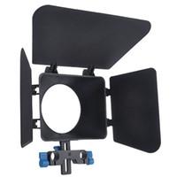 Wholesale New Black Digital Matte Box for mm Rail Rod M1 support DSLR Camera D90 D D D D focus DV GH2 D E2077A