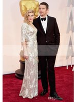 autumn ryan - 2015 OscarEthan Hawke R and Ryan Hawke Celebrity Wedding Suit For Man Black Satin Lapel Groom Tuxedos Suits Jacket Pants Tie q155