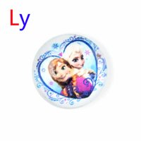 american press - 1pcs NOOSA Frozen Anna Elsa Figure Aolly Button Jewelry Accessories DIY Snap press studs buttons for real Bracelet Ring Pendant AC009