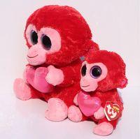 big red farm - BEST selling TY beanie babies Plush ruby toy ty monkey plush big eye The original charming CM baby doll toys gift T3082