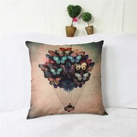 Wholesale 45cm cm Retro Home Couch Sofa Pillow case Cushion Balloon Cover Butterfly D side printing