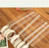 Wholesale Lovely Lace Tower Print Decorative Tape Transparant Roll Adhesive Tape Sticker Decorative Masking Book Decor Tape
