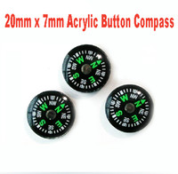 Wholesale Outdoor Gear mm x mm Gram Mini Acrylic Button Camping Compass Outdoor Survival Kit