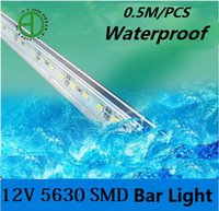 Gros- (50pcs / lot) Waterproof Epoxy 12V 0,5M (50CM) 36LEDs 5630 LED rigide en aluminium Led Strip Light Bar Pour Cabinet