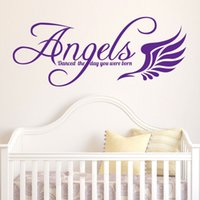 baby life quotes - Baby room Wall Art Sticker Angels danced the day you were born Quote Decal Home Decoration Decor Wall Mural