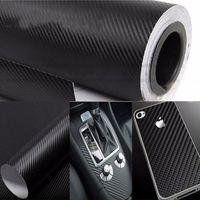 Wholesale Cool Fashon DIY Carbon Fiber Wrap Roll Sticker For Car Auto Vehicle Detailing CMx30CM car sticker vw car accessories TY437