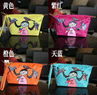 Wholesale 70pcs Girls Cartoon handbag nylon bag tote m j bird cosmetic bag Wallet purse x7x11cm Christmas Gifts TT38225226116 HX