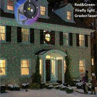 Wholesale Suny Patterns Red Green Christmas Landscape Outdoor Laser Lights V V Waterproof Laser Xmas Tree Garden Light