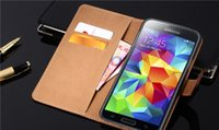 Wholesale Newest for S6 genuine Leather Case Flip Leather Wallet Card Slots For Samsung G9200 G920F G920 S6 real Leather Cases