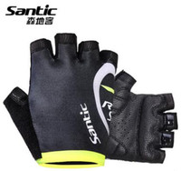 Wholesale Santic15 years of the new RTS intercontinental team riding a semi finger gloves gloves gloves men