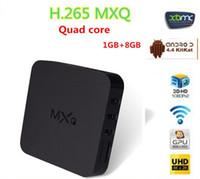 Wholesale XBMC Preload Vsmart MXQ S805 Android TV BOX Quad Core GB GB Cortex A5 GHZ Mali Android movie Media Player
