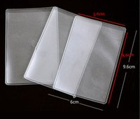 heat seal banking bags - 80pcs WHB x6cm mic or mil credit id bank card clear bags unsealed packing card pvc bags