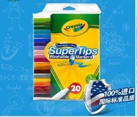 Wholesale Crayola colors washable thin rod of watercolors mark fruit fragrance Free DHL