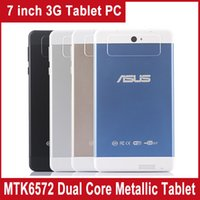 7 inch cell phone - 7 inch MTK6572 Tablet PC GB Android Dual Core G WCDMA Phablet Camera GPS Cell Phone WIFI Bluetooth Dual SIM Metallic Body Tablet PC