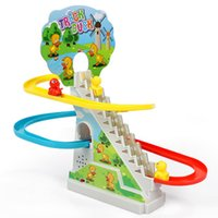 Precio de Trains-Duck Dog Leaf Slide Escalera Electric Duck <b>Trains</b> Set With Rail Juguetes Para Niños Niños Niños Juguetes Jugetes Para Ninos
