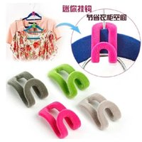 Wholesale Space Saving Hanger Clamp Hook Random Color