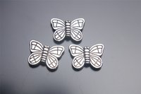 Wholesale 300pieces mm butterfly Bead Spacer Charms Hook Clasps Pendant Connector Plated Silver DIY Jewelry Necklace infinity Bracelets Earring