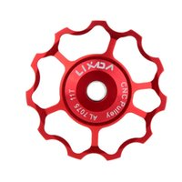 Wholesale LIXADA Aluminum Alloy MTB Mountain Bike Rear Derailleur Jockey Wheel Road Bicycle Guide Roller Idler Pulley Part Bike Accessory
