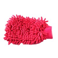 Wholesale New Arrival pc Professional Car Wash Gloves Plush Cleaning Mitt Household Products Color Random HG Random