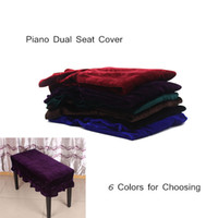 Wholesale Piano Stool Cover Chair Bench Cover Pleuche Decorated with Macrame Universal for Piano Dual Seat Bench Piano Accessories order lt no track