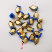 Wholesale 20pcs mm Tube M5 Thread Pneumatic Fitting Quick joint