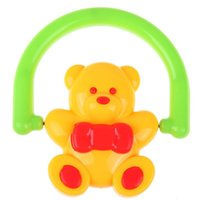 Wholesale 2015New Arrival Cute Baby Bear Bell Rattle Rotation Toy Handbell Musical Education Great Gift Bady Music Toys
