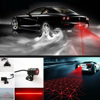 Wholesale 8 Pattern Car Laser Fog Light Lamp Rear Anti Collision Driving Safety Signal rainproof Warning Light