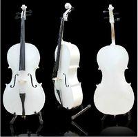 Wholesale Custom Shop violoncello white Elegant Musical Instruments white cello with bag