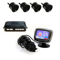 Wholesale 4 Parking Sensors Car Reverse Backup Front Rear LCD System Radar Alarm Monitor Jecksion