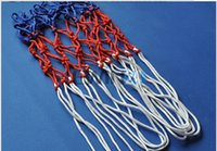 basketball goal nets - Standard Durable Nylon Basketball Goal Hoop Net Netting Red White Blue Sports New and Hot Selling