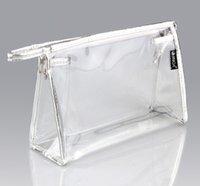 al pvc - transparent clear PVC travel wash bag cosmetics waterproof storage bags case AL