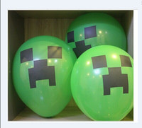 Wholesale 2015 NEW Christmas gift Minecraft Creeper Balloon Minecraft Party Kids Birthday Party Decor Toy Gift H460