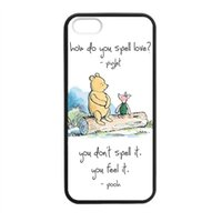 bear love quotes - Cute Cartoon Bear Quotes About Love Piglet Creative Art Phone Case Cover for iPhone s c s plus