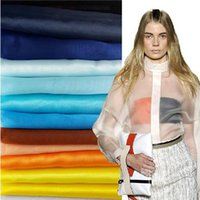 Wholesale 20 Color Transparent Organza Fabric High density DIY Yarn Gauze Fabrics for Wedding Background M Length Hot Sale gze