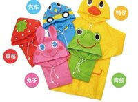 Wholesale 2015 new Linda Funny Rain Coat Kids Children Raincoat Rainwear Rainsuit Kids Waterproof Animal Raincoat