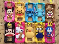 Cheap Universal Silicone Bumper Frame Cartoon Design Case Mickey Bear Stitch Monster Doll for iPhone 6s Samsung s6 HTC LG Sony Nokia 50pcs
