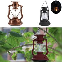 camping light - Solar Cells Panel Lantern Camp LED Bright Light Lamp Outdoor Hand Crank Portable Outdoor Light Hiking Camping Light Red Black Bronze shell