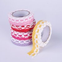 Wholesale Colorful Fabric Lace Washi Tape Ribbon Cotton Trim Self Adhesive Decorative Sticker Home Decor Decoration