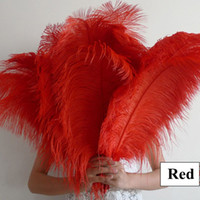 Wholesale Large Red Ostrich Feather Many Sizes Wedding Decorations Centerpiece Ostrich Feather Ostrich Plume Wedding Party Decoration Centerpiece
