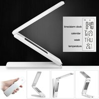 Wholesale Foldable Adjustable Brightness LED Light Folding Touch LED Lamp Table Lamp Protect Eyes Learning Reading Lamp With Calendar Time