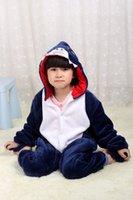 Wholesale Fashion Unisex Kids Cosplay shark onesie autumn winter Christmas Halloween jumpsuit Children Girl Boy onesie cosplay costume