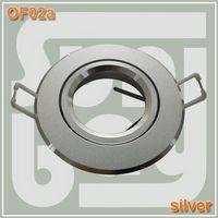 aluminum brackets - high quality aluminum Round fitting Silver Gimbal Fixture Mounting Bracket For MR16 GU10 Spotlight