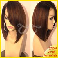 Wholesale 2016 Brazilian hair full lace human hair wigs bob for black woman charming short cut human hair wig