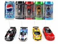 Wholesale Mini Racer Remote Control Car Coke Can Mini RC Radio Remote Control Micro Racing Car Mixed Color